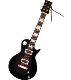 Kerstversiering LP elektrische gitaar (paars) 12 cm