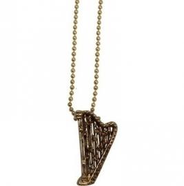 Ketting met gouden harp