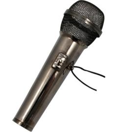 Kerstversiering microfoon (zwart) 7 cm