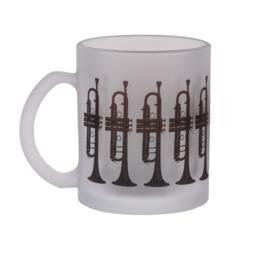 Mat theeglas met trompet