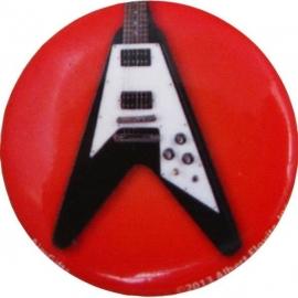 Button met Flying V elektrische gitaar