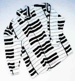 Overhemd met pianotoetsen