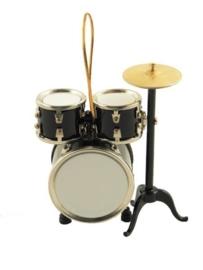 Kerstversiering drumstel (zwart)