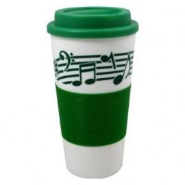 Drinkbeker met muziekbalk