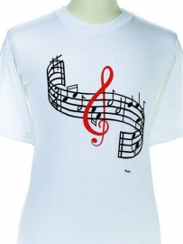 T-shirt met notenbalk