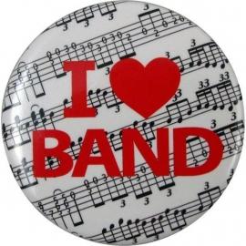 Button met tekst 'I ♥ Band'