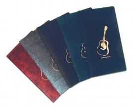 Handig notitieboekje met gitaar