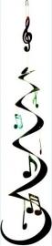 Slinger met muzieknoten