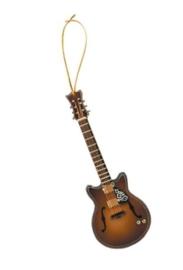Kerstversiering F Hole gitaar met Cut Away 13 cm