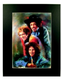 Popart poster van de Jimi Hendrix Experience