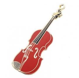 Sleutelhanger met bordeauxrode viool