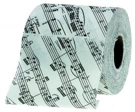 Toiletpapier met bladmuziek