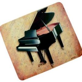 Muismat met vleugel en bladmuziek