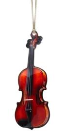 Kerstversiering viool 10 cm