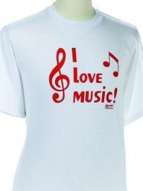 T-shirt met I Love Music