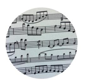 Flexibele onderzetter met bladmuziek