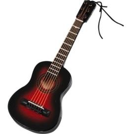 Kerstversiering akoestische gitaar (bruin) 12 cm