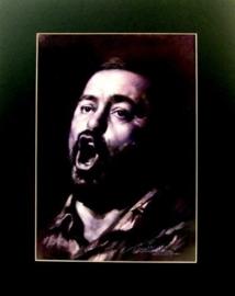 Popart poster van Luciano Pavarotti