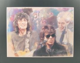 Popart poster van de Rolling Stones