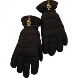 Zwarte handschoenen met vioolsleutel