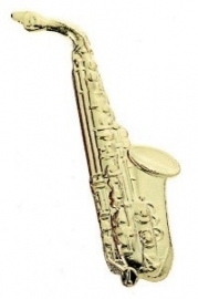 Speldje altsaxofoon verguld
