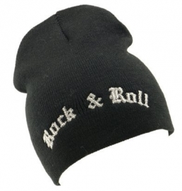 Beanie met de tekst 'Rock & Roll'