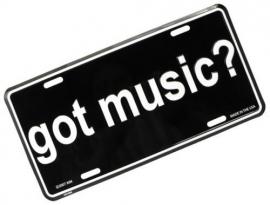 Kentekenplaat 'Got Music?'