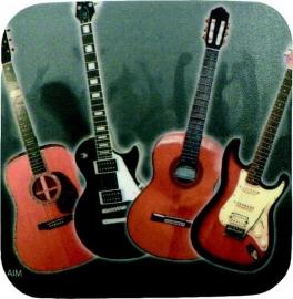 Onderzetter met gitaren