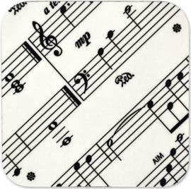 Onderzetter met bladmuziek