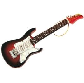 Kerstversiering elektrische gitaar (bruin) 13 cm