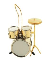 Kerstversiering drumstel (verguld)