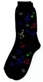 Sokken met gekleurde muzieknoten
