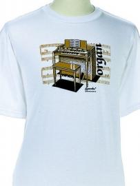 T-shirt met orgel en bladmuziek