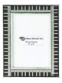 Fotolijst met pianotoetsen