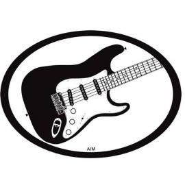 Automagneet met elektrische gitaar