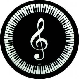 Onderzetter met vioolsleutel en pianotoetsen