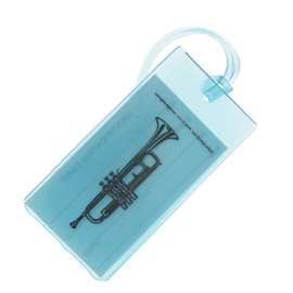 Kofferlabel met trompet