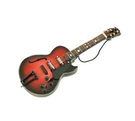 Kerstversiering Gibson gitaar (bruin) 14 cm
