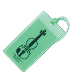 Kofferlabel met viool