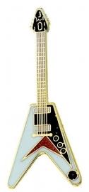 Speldje gitaar Flying 'V' wit