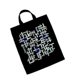 XL draagtas met muzikaal kruiswoordraadsel
