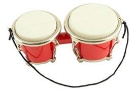 Kerstversiering bongo (rood) 9,5 cm