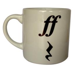 Koffiekopje met 'ff rust'