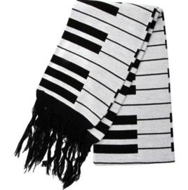 Luxe sjaal met keyboardprint