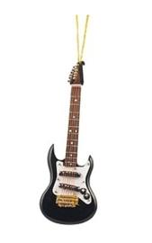 Kerstversiering elektrische gitaar (zwart) 13 cm