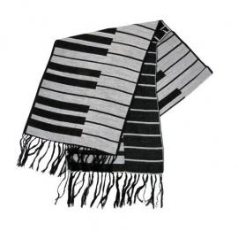 Kasjmier sjaal met pianotoetsen