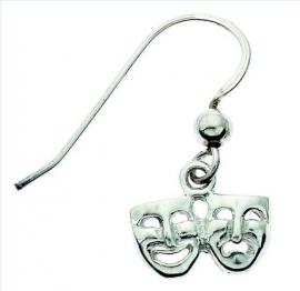Zilveren oorbellen met maskers