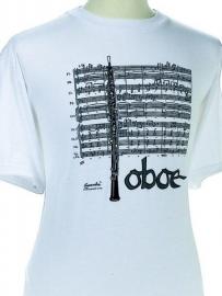 T-shirt met Hobo en bladmuziek