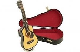 Akoestische gitaar met muziek
