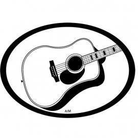 Automagneet met akoestische gitaar